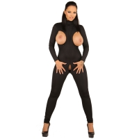ledapol 1253 sexy stretch catsuit - dames stoff overall