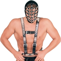 ledapol 5014 sm leather chest harness - gay harness