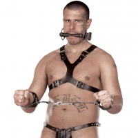 ledapol 5048 sm leather chest harness - gay harness