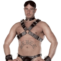 ledapol 8034 sm leather chest harness - gay harness
